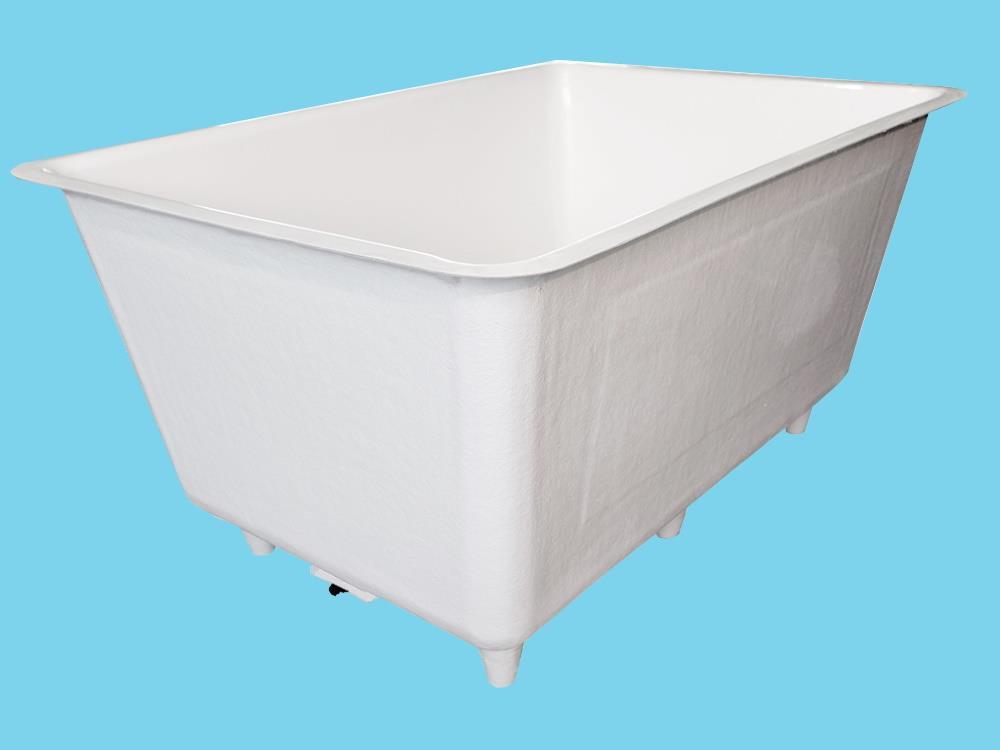 Polyester Behälter 2200L 155x215x95cm + Füßen & Ablaufwanne