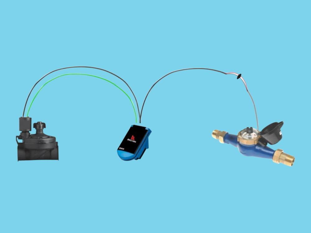 Autom. Volumenventil-Satz - 30 m3/Std. - 1 Puls/10L - 2