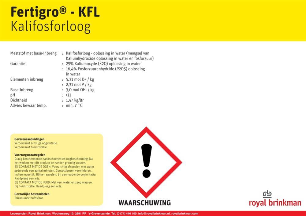 Fertigro KFL IBC 900 ltr/1323 kg