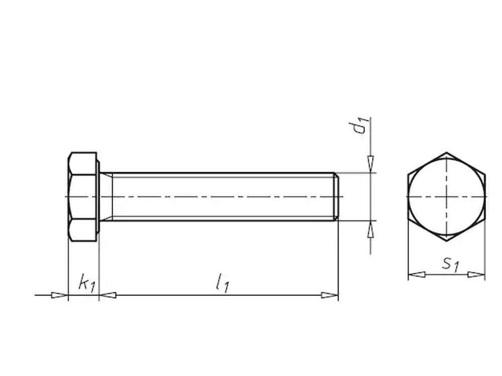 Edelst. a4 Sechskantschrauben m16x160mm