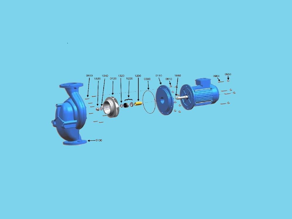 Repäratür Dichtungsset Johnson CL pump CL 65-160 1,1kw, 80-1