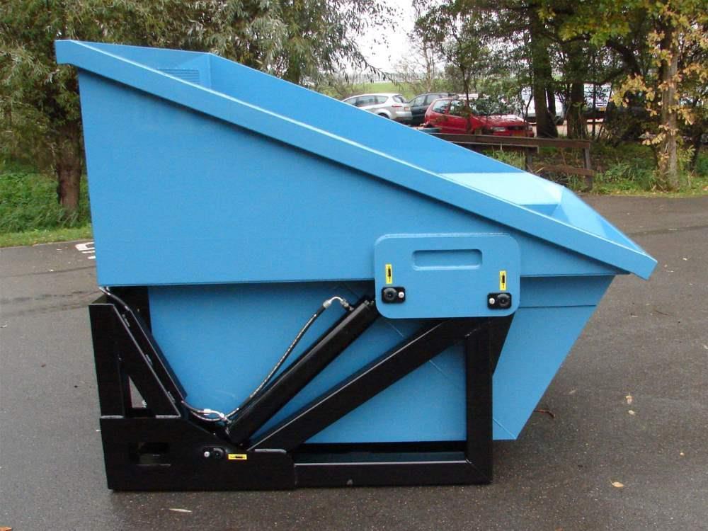 Hydraulik-Abfallbehälter Super Mega Bio Chopper 3800 ltr