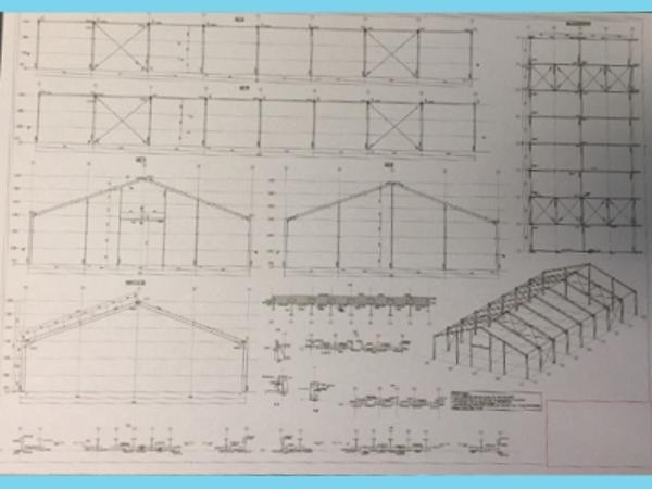 Konstruktion der Betriebshalle stahl 20,0m x 41m HO Berg neu