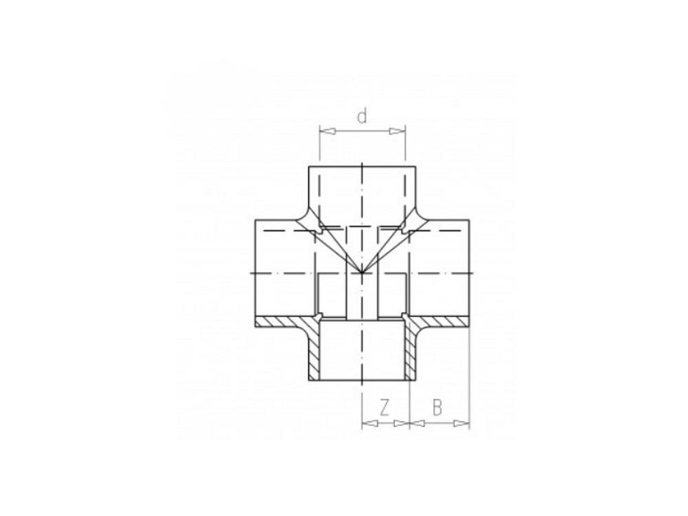 Kreuzstück 16 x 16 x 16 x 16