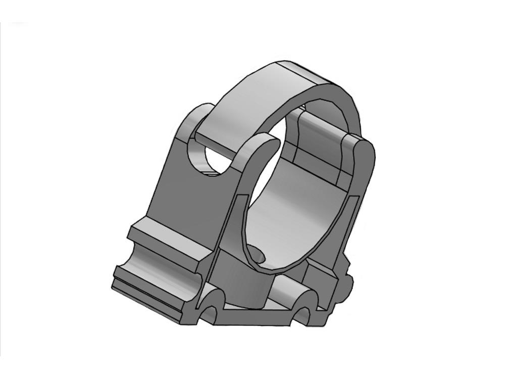 Rohrschellen 32 mit clip