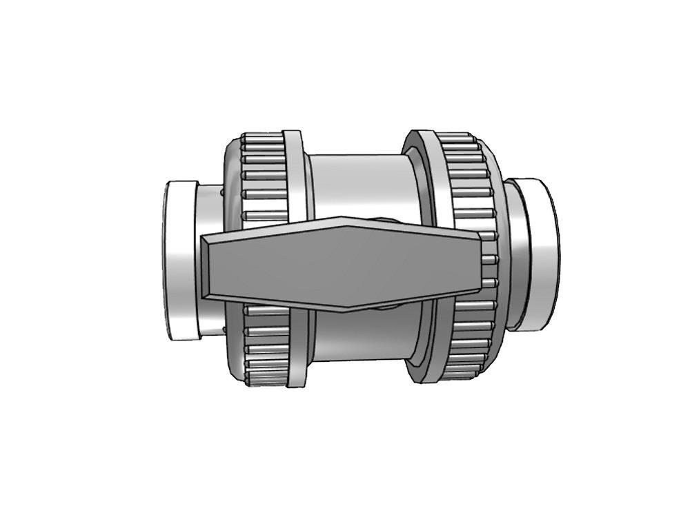 Pvc kugelhahn type: dil 1 1/2 x 1 1/2 dn40