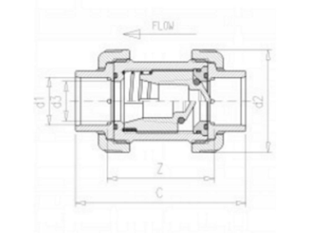 VDL Rückschlagventil + Feder 90mm VITON