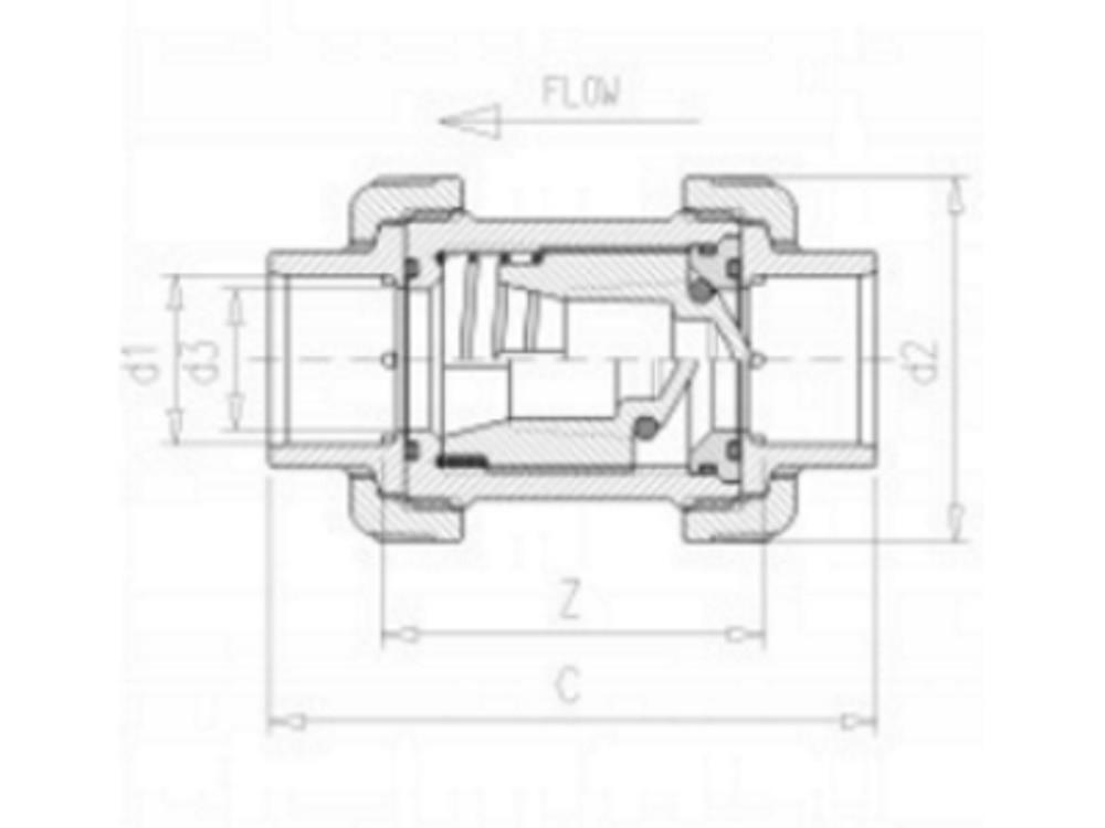 VDL Rückschlagventil + Feder 110mm VITON