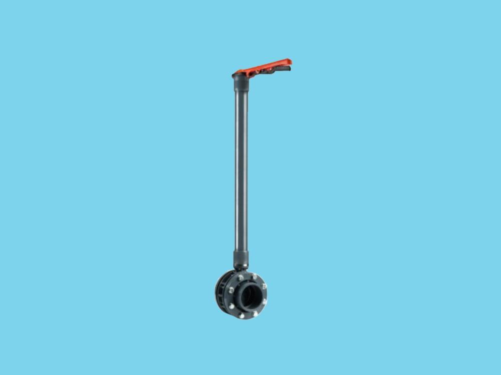 Absperrklappe dn125 + kit 140 x 140 + 1000mm