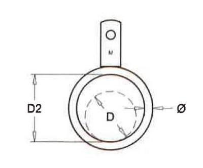 Ring mit einzigen Lippe für Rohre (Pro Bündel) Rohr 51mm, pr
