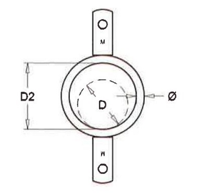 Ring mit doppelter Lippe Rohr 51 mm pro 25 Stücke
