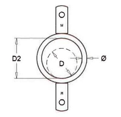 Ring mit doppelter Lippe Rohr 76 mm pro 25 Stücke
