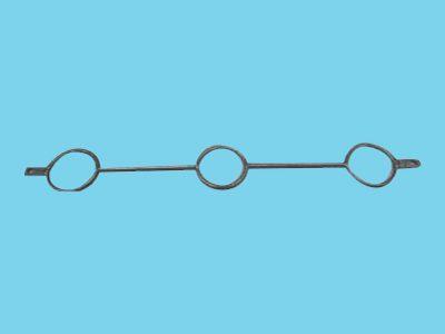 Giebelhaken mit doppelter Lippe für 3x Rohre 76mm, 15 stück
