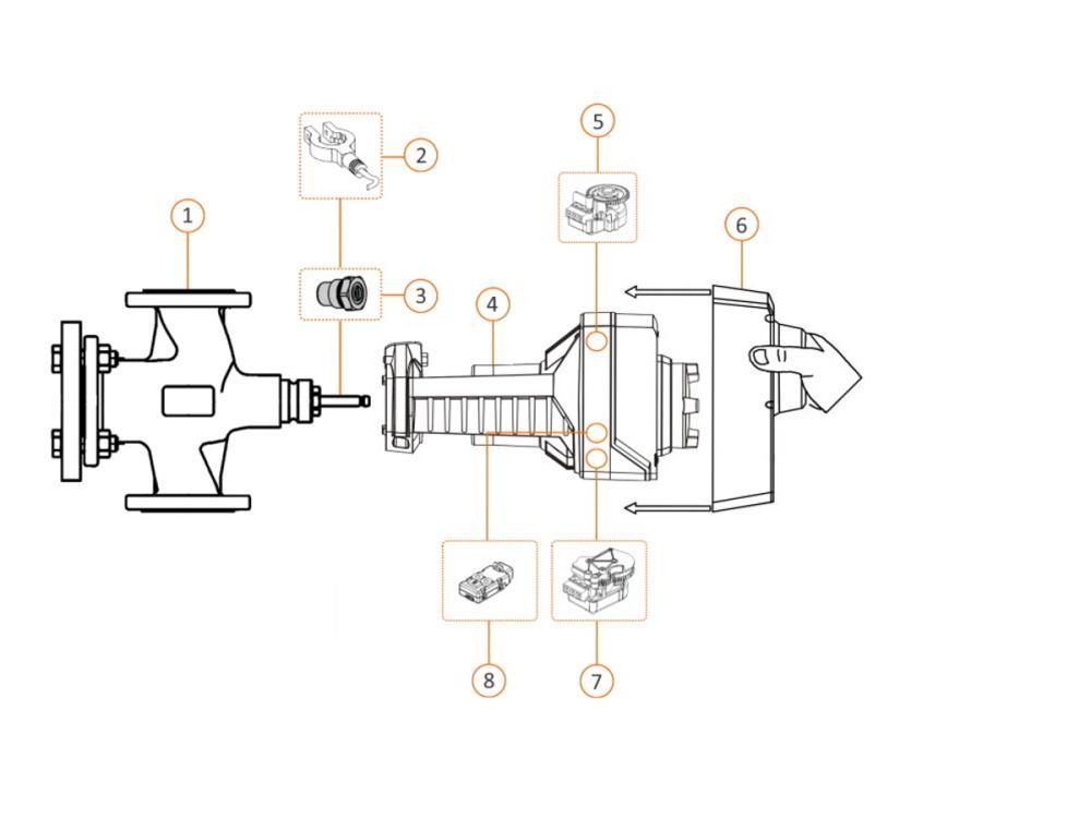 Siemens Acvatix VXF22 Dreiwegventil PN6 flansch Grösse: DN 2