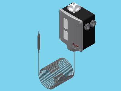 Danfoss RT 101 Thermostat zylindrischer Fernfühler 25.90°C