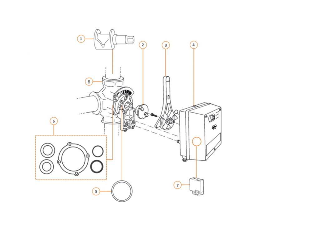 Honeywell/ Centra Honeywell Kupplung zu Servomotor VMM