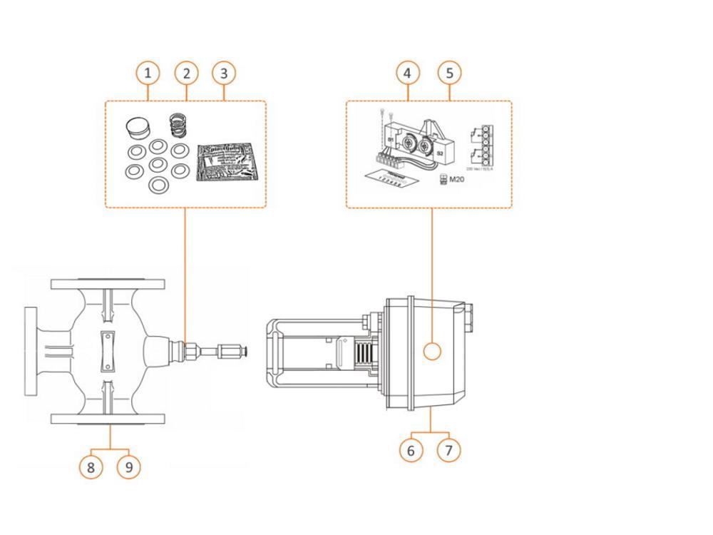 Ersatz-Packung 10 mm Honeywell Mischventil V5329 DN 40-80