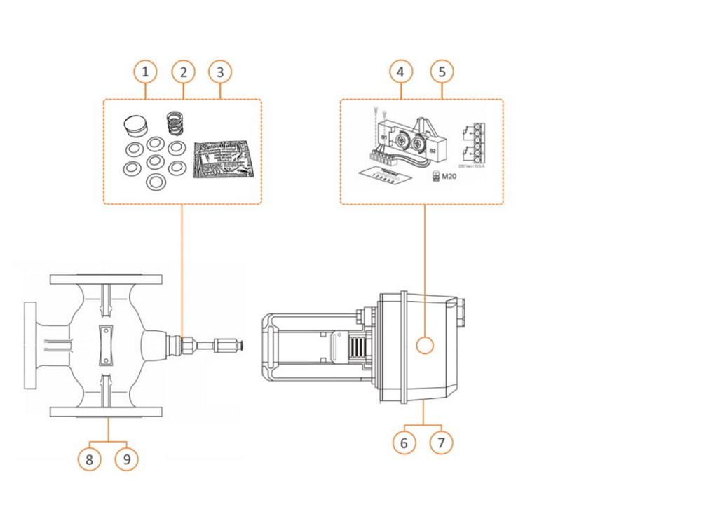 Hilfsschalter 230 V, 10 A,für Stellantriebe ML6420/ML6425