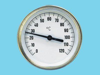 Zeigerthermometer Gehäuse 63 mm mit Klemmen 0...+120  gr. C