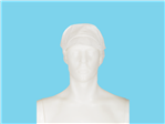 Allwear Mütze mit Patte und Haarnetz PP weiß 10x100 Stk