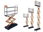 BENOMIC Rohrschienenwagen, hydraulische Vierfachschere